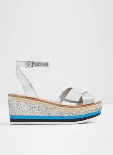 Aldo Dolgu Topuk Sandalet Gümüş
